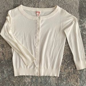 Mossimo Supply Co. Sweaters - Nice soft stretchy off white 1/4 sleeve cardigan